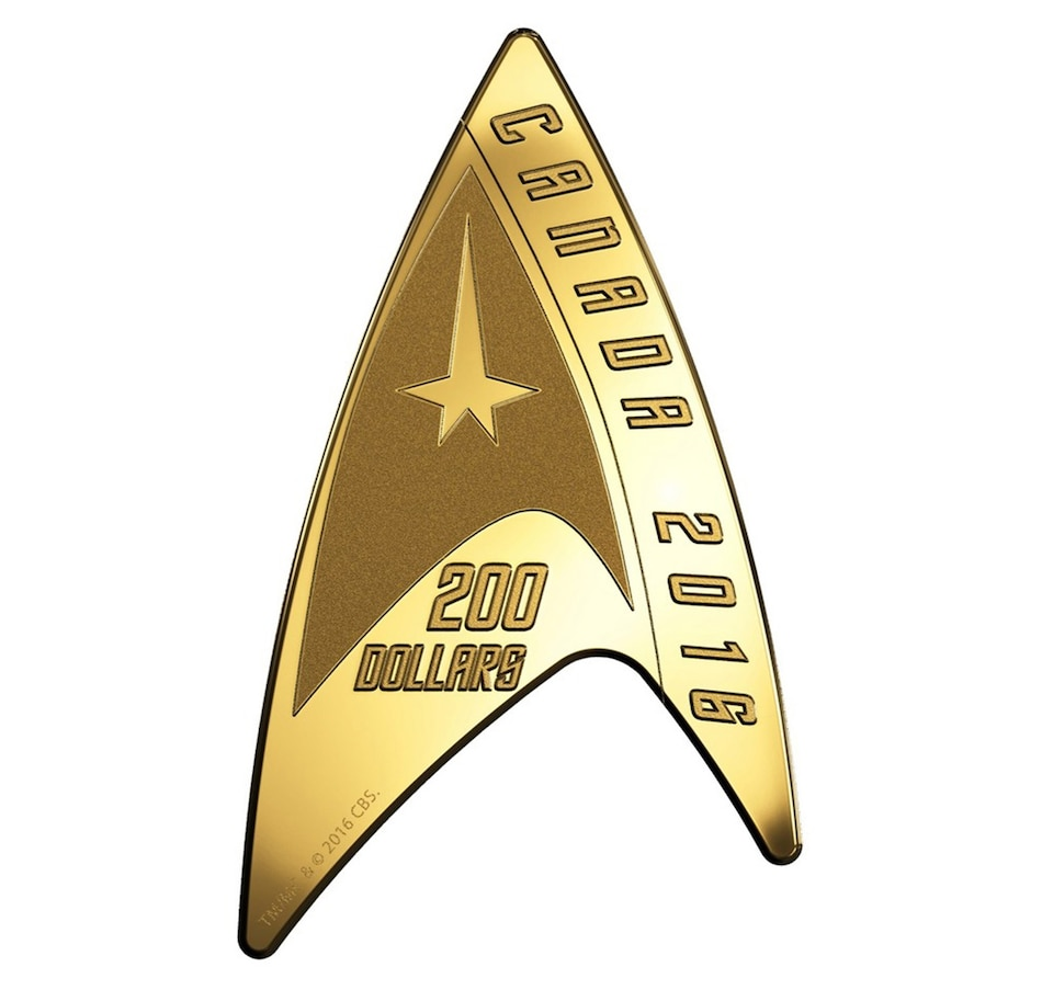 Image 667433.jpg , Product 667-433 / Price $1,699.95 , 2016 $200 Pure Gold Coin Delta - Star Trek from Royal Canadian Mint on TSC.ca's Coins department