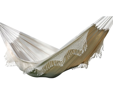 Vivere Double Deluxe Brazilian Natural Hammock with Fringe