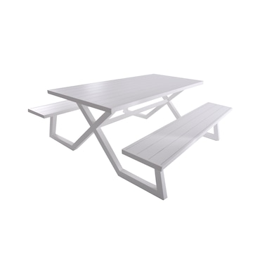 Vivere Banquet Deluxe 8-Seater Aluminum Picnic Table