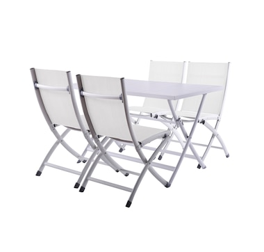 Vivere 5-Piece Brunch Set with Aluminum Folding Table and 4 Chairs