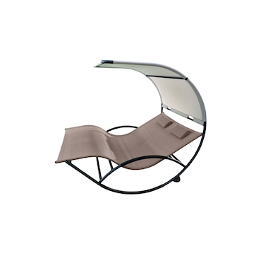Vivere Aluminum Double Chaise Rocker