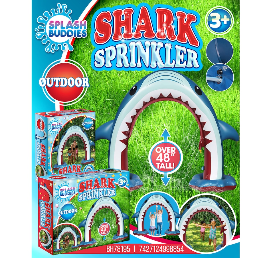 Image 674686.jpg , Product 674-686 / Price $48.00 , Splash Buddies Inflatable Sprinker Shark  on TSC.ca's Home & Garden department