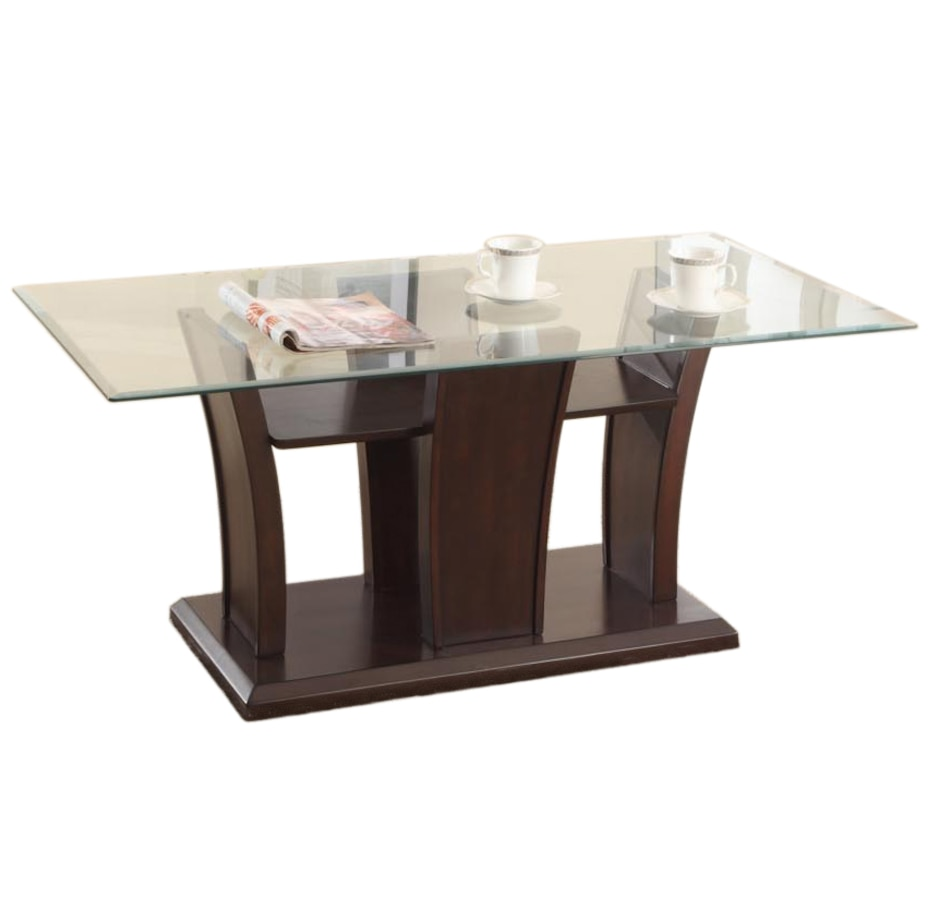 Image 676847.jpg , Product 676-847 / Price $299.00 , Brassex Dark Cherry Ambrose Coffee Table from Brassex on TSC.ca's Home & Garden department