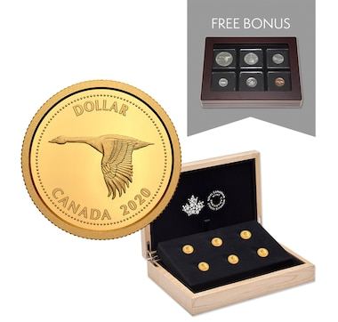 2020 1/10th Ounce Pure Gold Coins - Tribute to Alex Colville Six-Coin Subscription