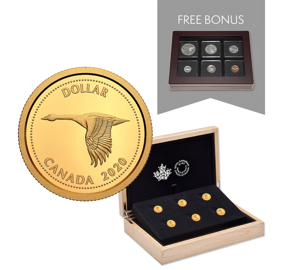 Image 678420.jpg , Product 678-420 / Price $364.95 , 2020 1/10th Ounce Pure Gold Coins - Tribute to Alex Colville Six-Coin Subscription from Royal Canadian Mint on TSC.ca's Coins department