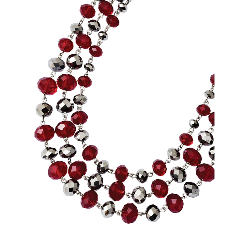 Buy 1928 Fashion Jewellery Silver Tone Red and Grey Epoxy Stone