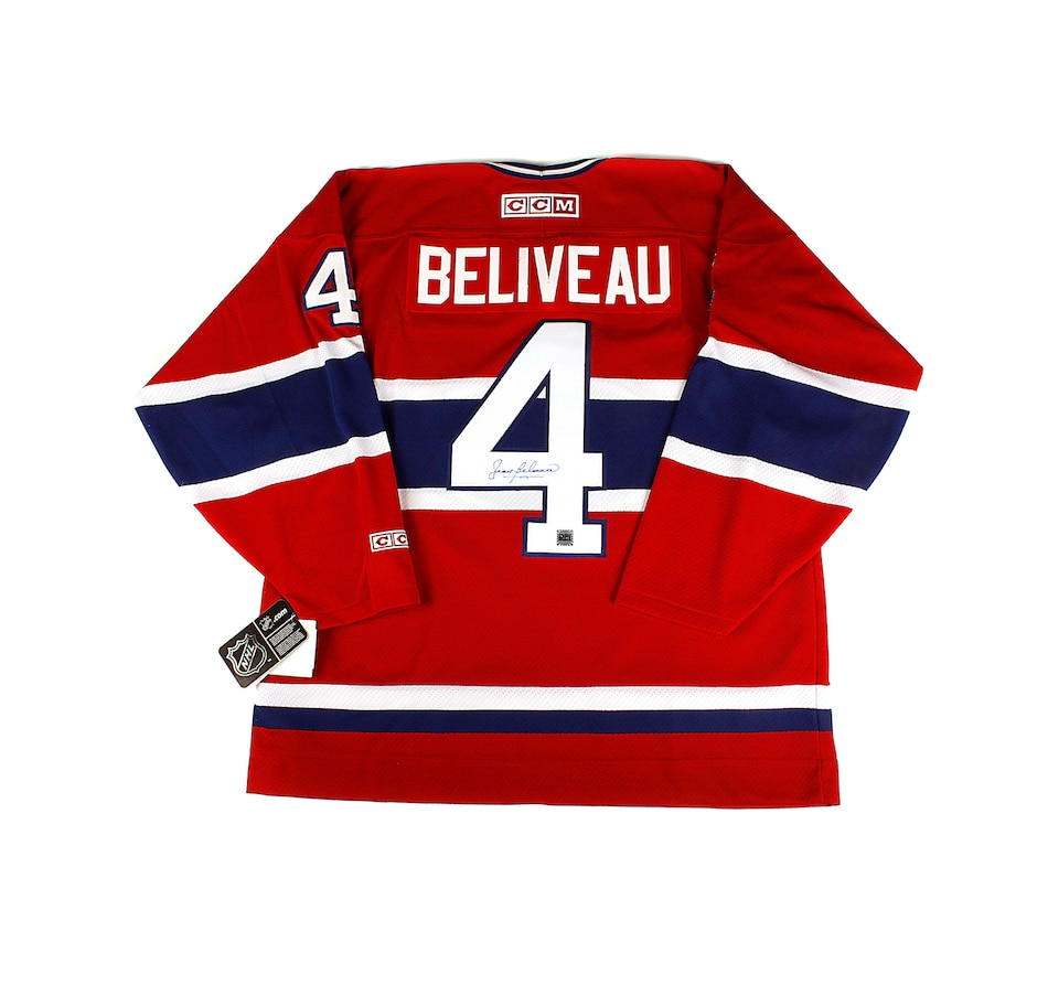 Image 680759.jpg , Product 680-759 / Price $599.99 , NHL Montreal Canadiens Autographed Jean Beliveau Men's Vintage Hockey Jersey from CCM on TSC.ca's Sports department