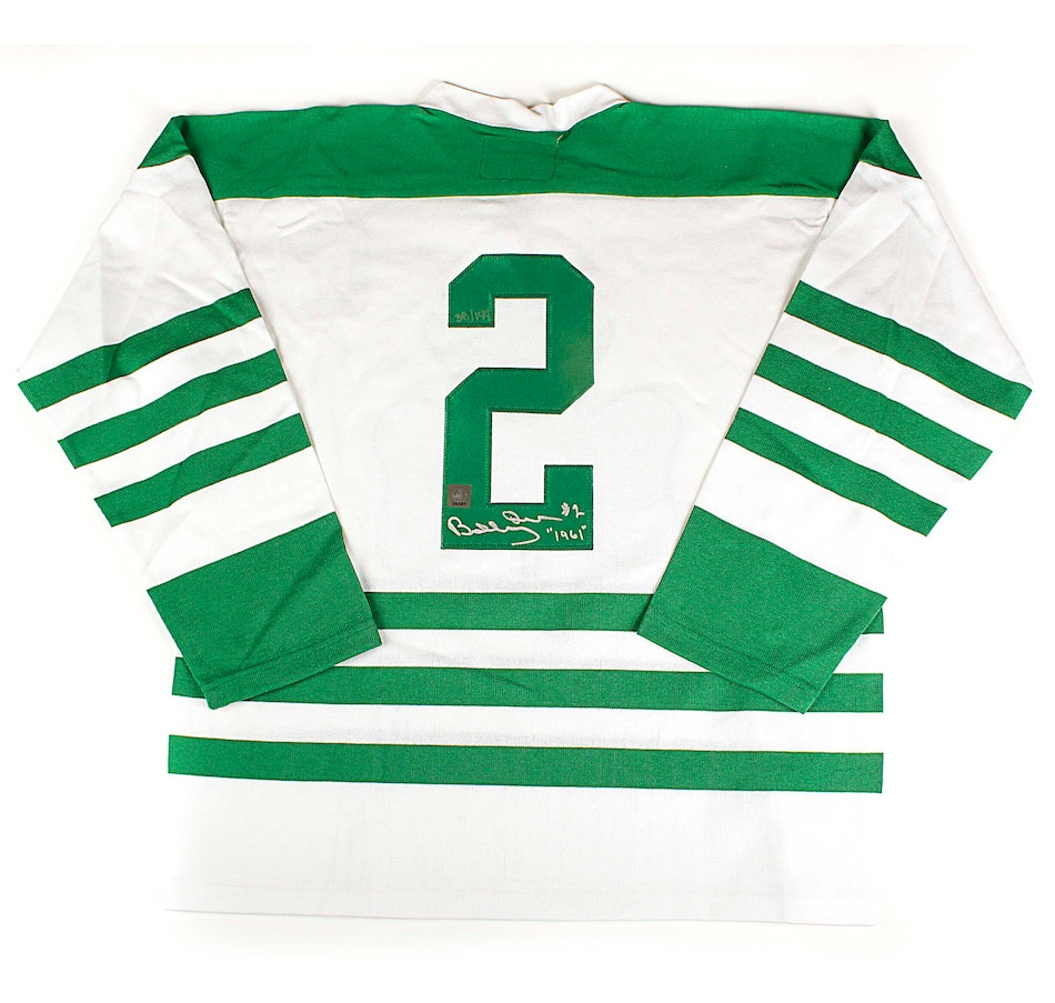 Image 680778.jpg , Product 680-778 / Price $799.99 , Autographed Limited Edition 144 Bobby Orr Parry Sound Shamrocks Inscripted Hockey Jersey  on TSC.ca's Sports department