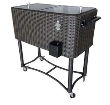 Permasteel Wicker Patio Cooler 80 Qt. - Brown