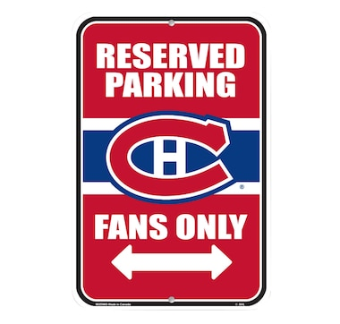NHL Montreal Canadiens 10x15 Parking Sign