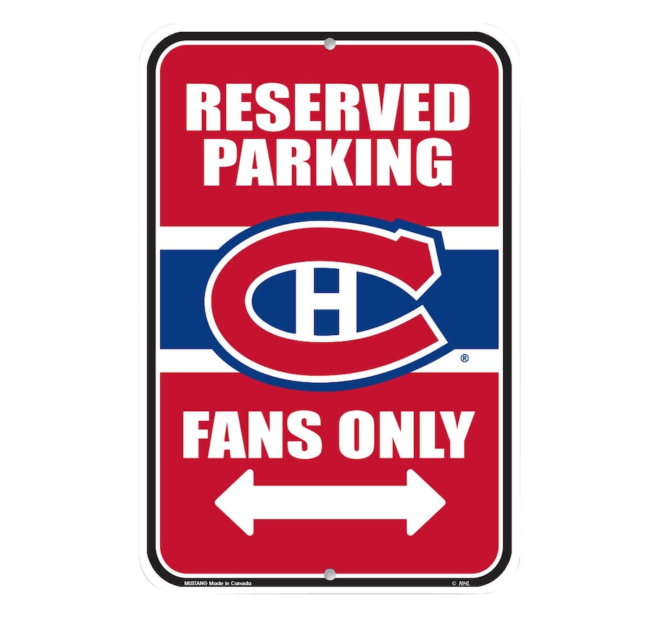 Image 690488.jpg , Product 690-488 / Price $15.99 , NHL Montreal Canadiens 10x15 Parking Sign  on TSC.ca's Sports department