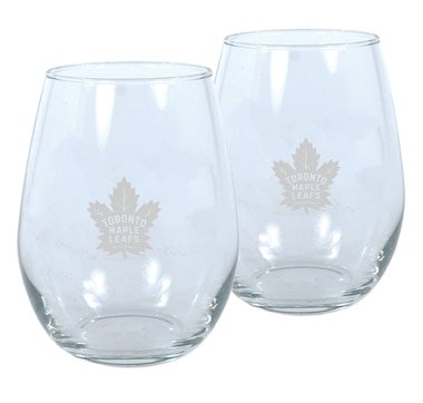 NHL Toronto Maple Leafs 2-Pack 17oz. Stemless Wine Glass Set