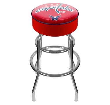 NHL Washington Capitals Padded Bar Stool