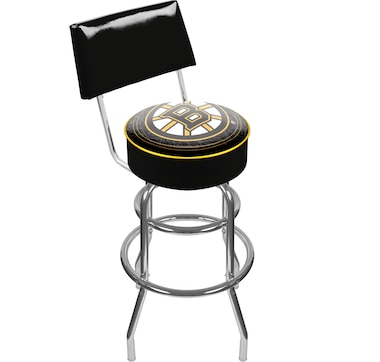 NHL Boston Bruins Padded Bar Stool with Back