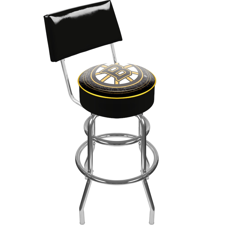 Image 690991.jpg , Product 690-991 / Price $179.99 , NHL Boston Bruins Padded Bar Stool with Back  on TSC.ca's Home & Garden department
