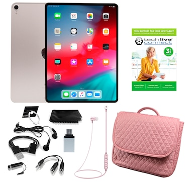 """Apple iPad Pro 11"""" 64GB Bundle with 3-Year Tech Support"""