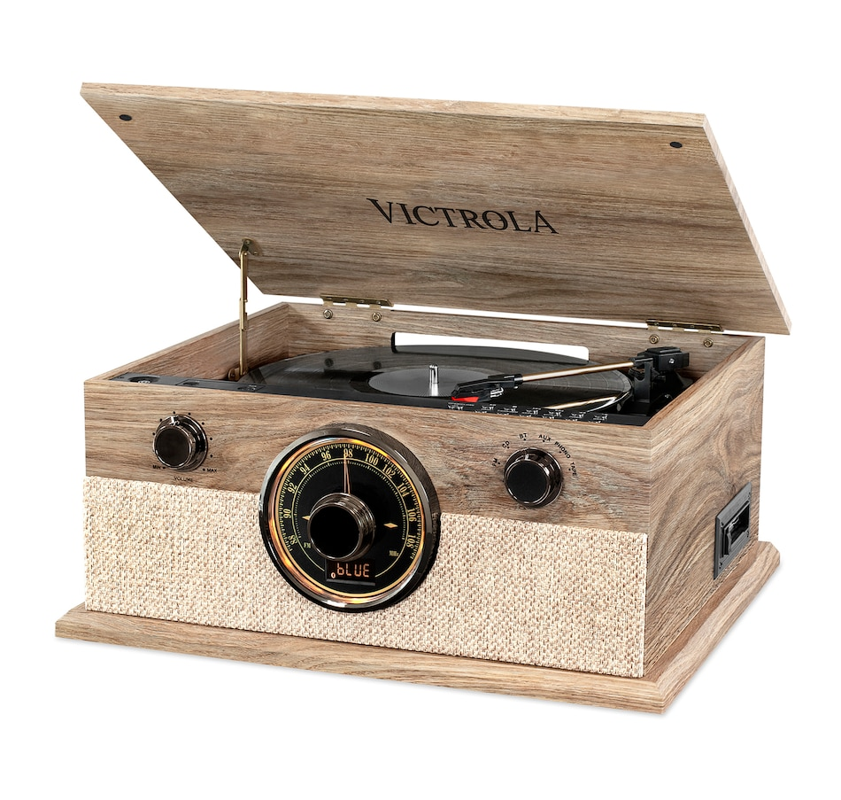Image 691314.jpg , Product 691-314 / Price $199.99 , Victrola 6-in-1 Brookline Bluetooth Record Player with 3-Speed Turntable, CD, Cassette Player and AM/FM Radio from Victrola on TSC.ca's Electronics department