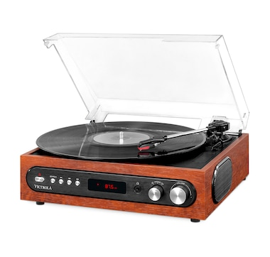 Victrola All-in-1 Bluetooth Record Player with Built-In Speakers and 3-Speed Turntable