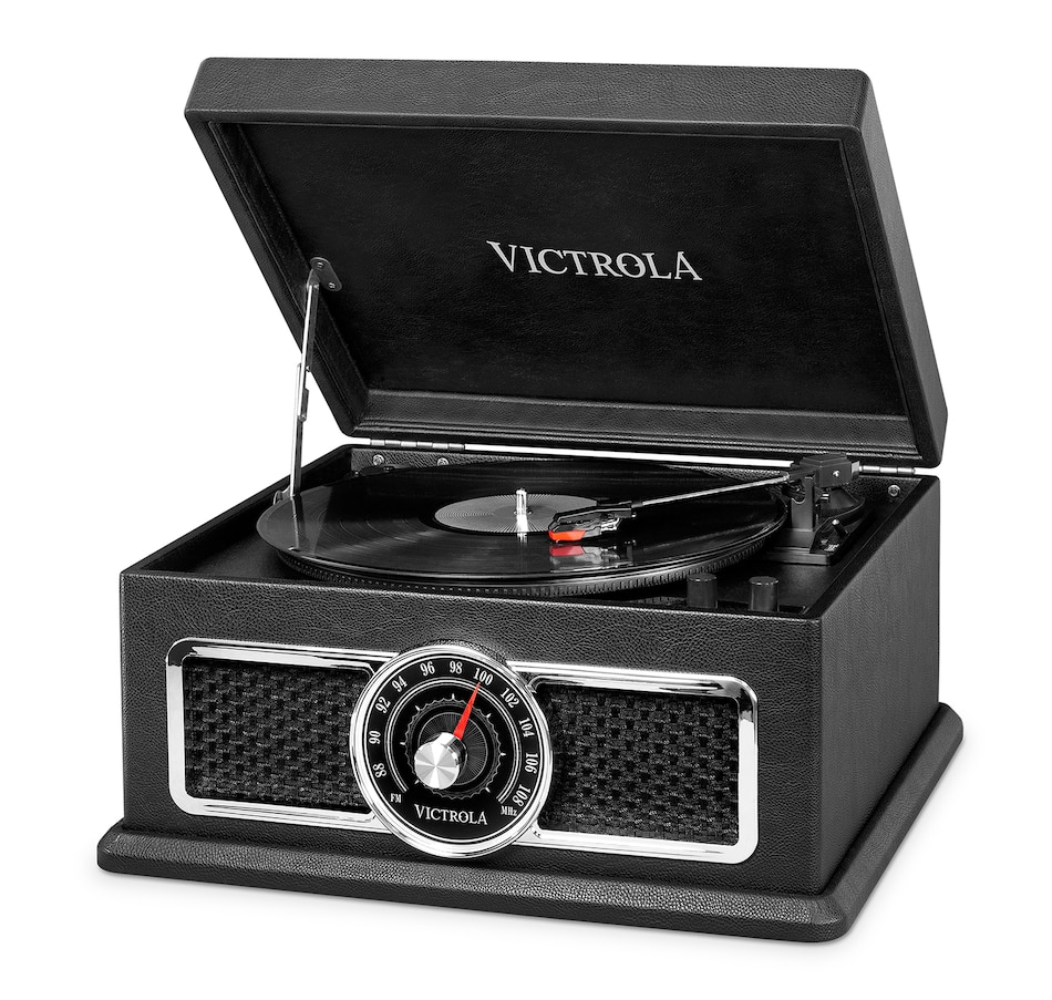 Image 691316.jpg , Product 691-316 / Price $199.99 , Victrola's 4-in-1 Nostalgic Plaza Bluetooth Record Player with 3-Speed Turntable and FM Radio from Victrola on TSC.ca's Electronics department