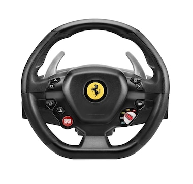 Thrustmaster Racing Wheel and Pedal Set T80 Ferrari 488 GTB PS4