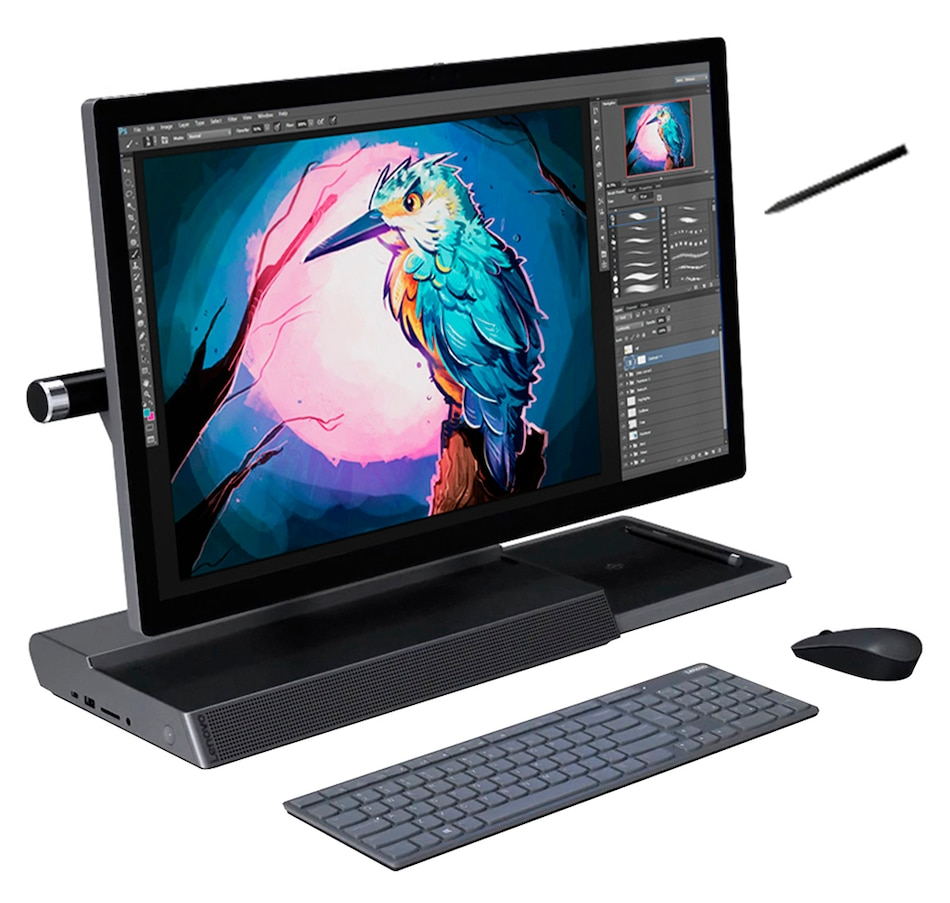 "Image 691574.jpg , Product 691-574 / Price $3,199.99 , Lenovo F0E50000US Yoga A940 27"" All-in-One Desktop, Touch, Core I7-8700, 16GB DDR4, 1TB HDD + 256GB SSD, Windows 10 Home from Lenovo on TSC.ca's Electronics department"