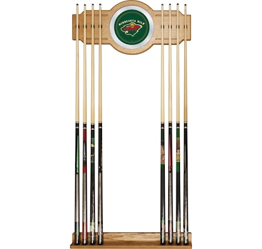 NHL Minnesota Wild 2-Piece Wood and Mirror Wall Cue Rack