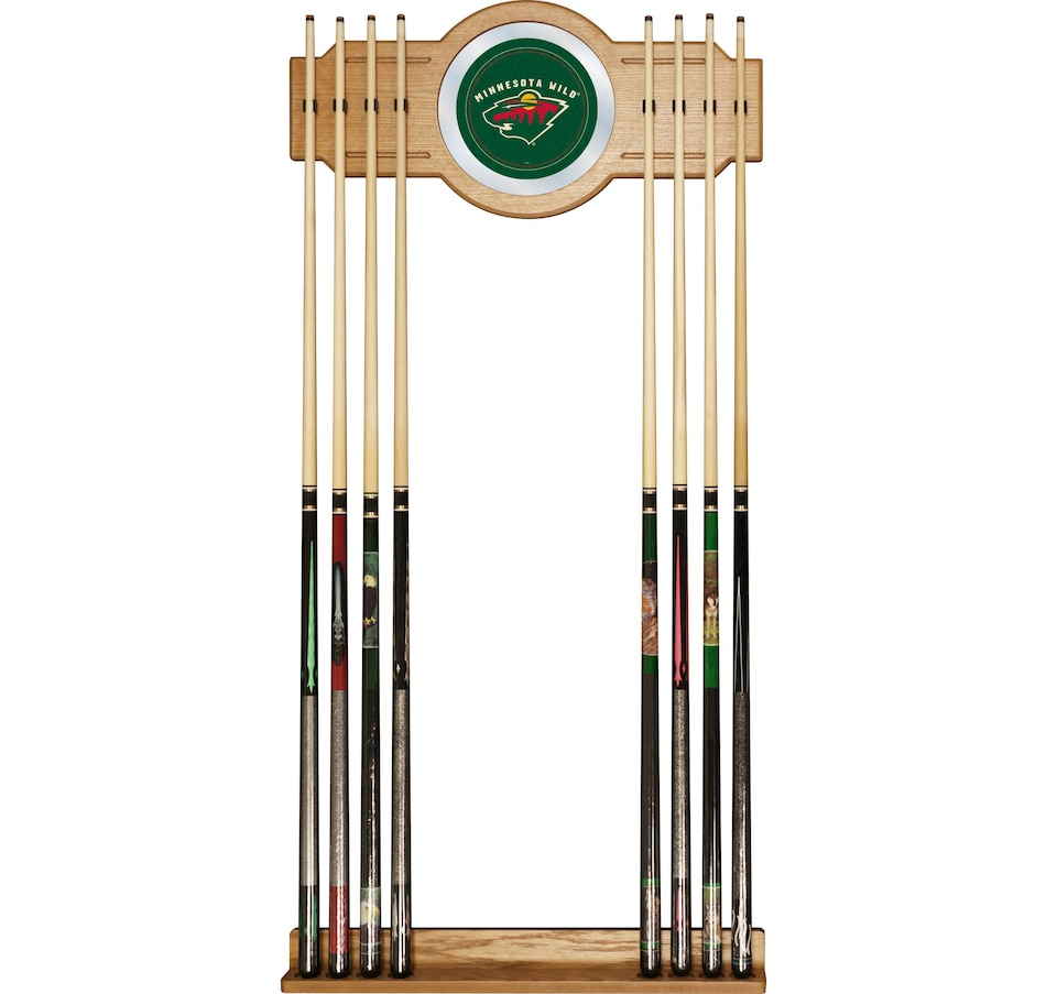 Image 692200.jpg , Product 692-200 / Price $174.99 , NHL Minnesota Wild 2-Piece Wood and Mirror Wall Cue Rack  on TSC.ca's Sports department