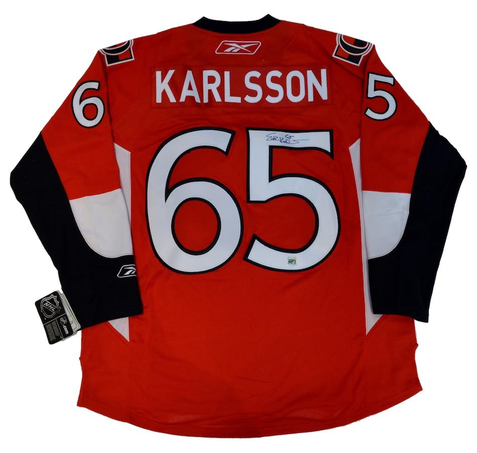 timeless design 77853 3dbdf NHL Ottawa Senators Reebok Erik Karlsson Autographed Heritage Jersey