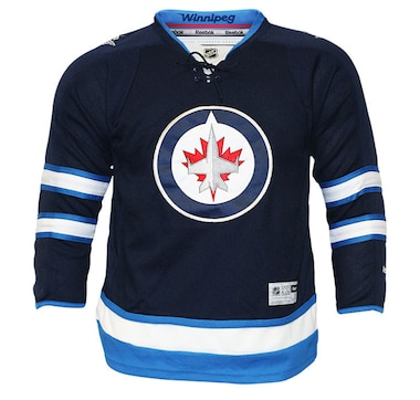 NHL Winnipeg Jets Team Colour Premier Home Youth Jersey