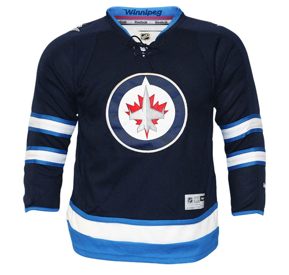 Image 694330.jpg , Product 694-330 / Price $89.99 , NHL Winnipeg Jets Team Colour Premier Home Youth Jersey from Reebok on TSC.ca's Health & Fitness department
