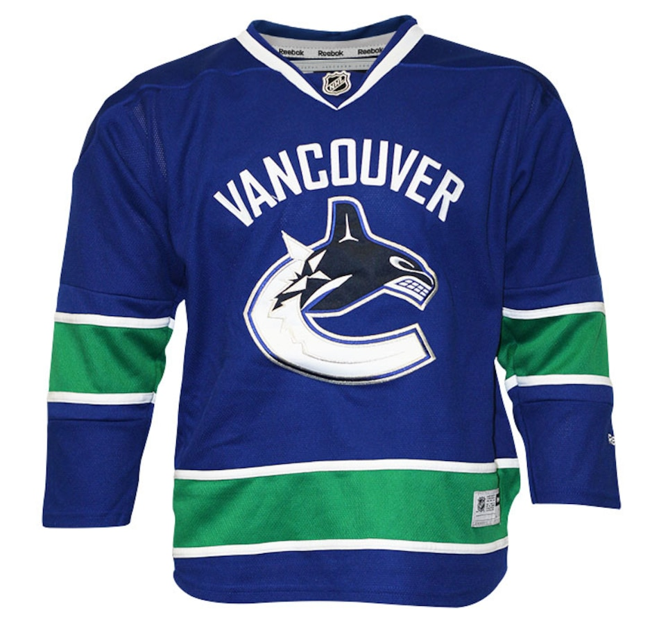 Image 694331.jpg , Product 694-331 / Price $89.99 , NHL Vancouver Canucks Team Colour Premier Home Youth Jersey from Reebok on TSC.ca's Health & Fitness department