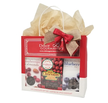 Dolce & Gourmando Chocolate Covered Fruit Treats Gift Bag