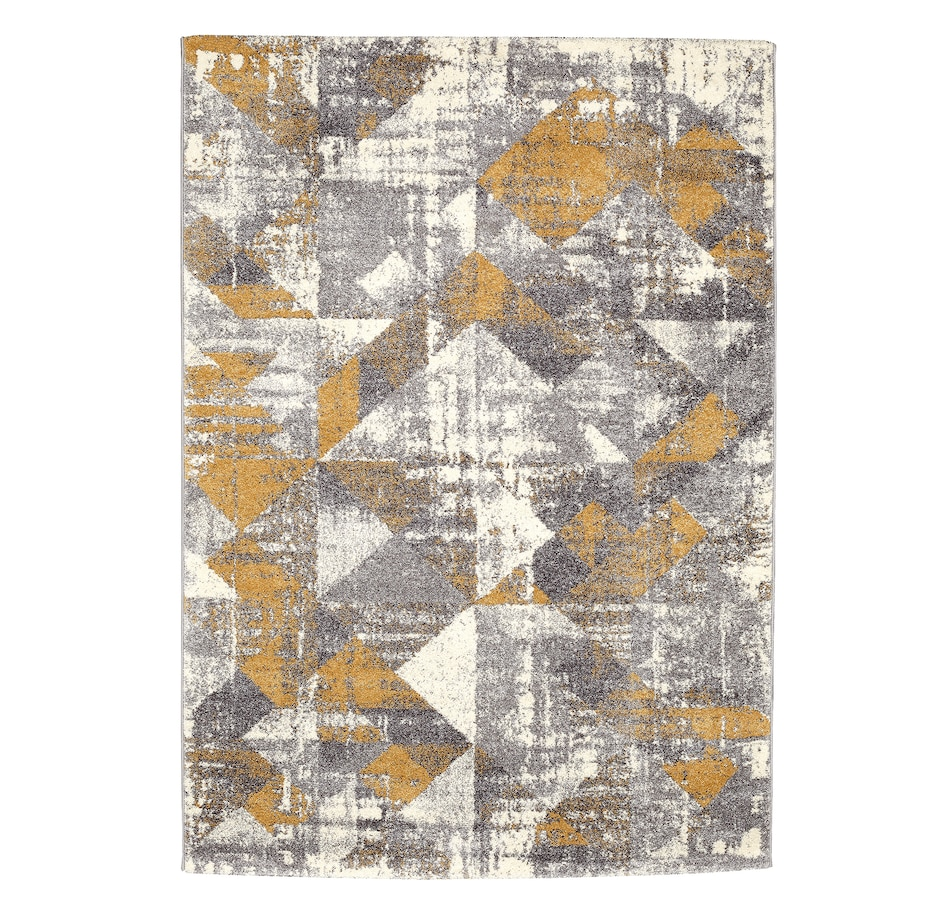 Image 695924.jpg , Product 695-924 / Price $142.99 - $244.99 , Viana Sueno Indoor Soft Geometric Rug (grey/ochre) from Viana Inc on TSC.ca's Home & Garden department