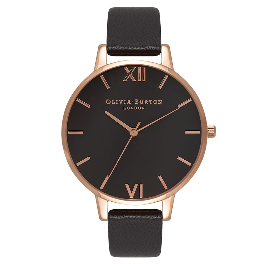 Image 697535.jpg , Product 697-535 / Price $165.00 , Olivia Burton - Ladies - Big Dial Black And Rose Gold watch from Olivia Burton on TSC.ca's Jewellery department