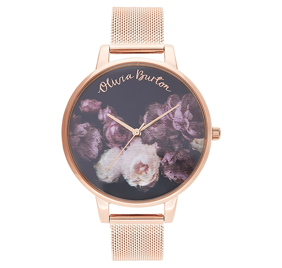 Image 697538.jpg , Product 697-538 / Price $195.00 , Olivia Burton - Ladies - Fine Art Rose Gold Mesh Watch from Olivia Burton on TSC.ca's Jewellery department