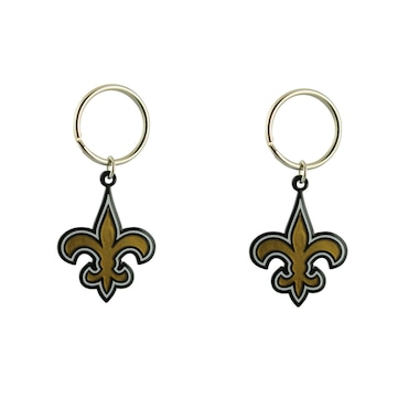 NFL New Orleans Saints Logo Keychain, 2-Pack