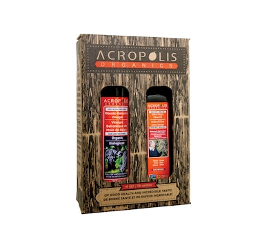 Acropolis Organics Extra-Virgin Olive Oil Bioharvest Farming and Organic Mousto Balsamic Vinegar Gift Box