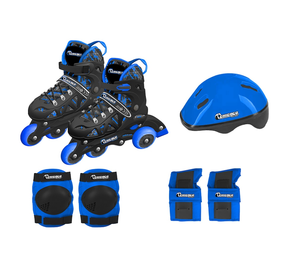 Image 702939.jpg , Product 702-939 / Price $114.99 , Chicago Skates Adjustable Rollerblade Combo Set (Blue)  on TSC.ca's Home & Garden department