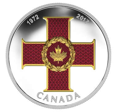 2017 $20 Fine Silver Coin Canadian Honours: 45th Anniversary of the Cross of Valour