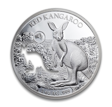 1-Ounce Fine Silver Shapes of Australia - Kangaroo