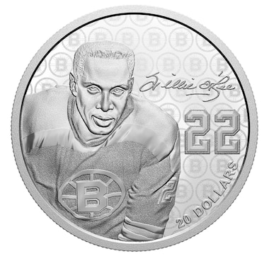 2020 $20 Willie O'Ree Fine Silver Coin