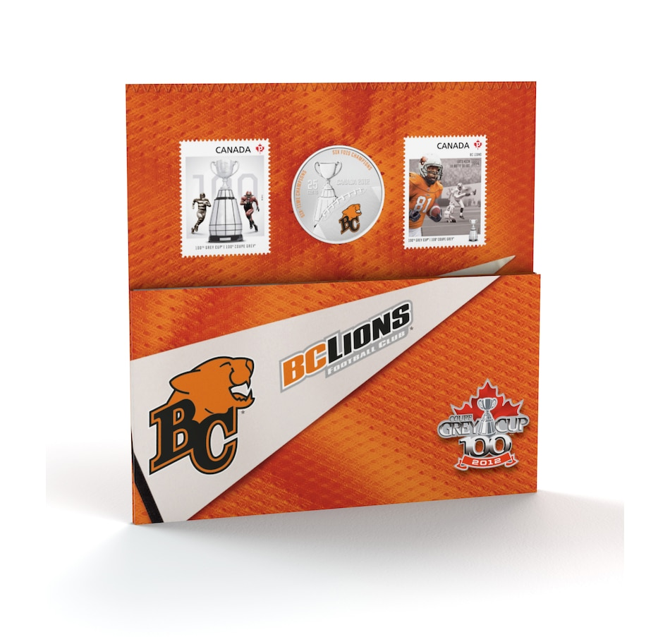Image 705221_LIOS.jpg , Product 705-221 / Price $25.95 , Choice of Seven 25-Cent Coin and Stamp CFL Sets from Royal Canadian Mint on TSC.ca's Coins department