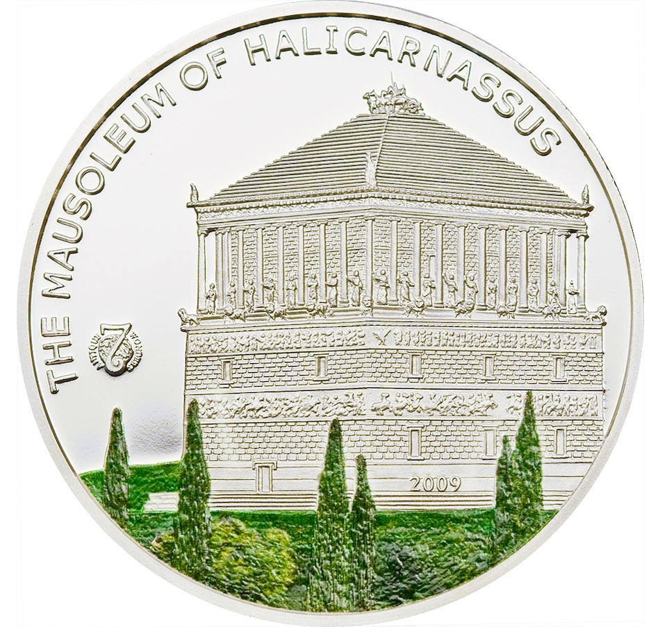 Image 705223.jpg , Product 705-223 / Price $99.95 , $5 Palau 2009 Mausoleum of Halicarnassus Sterling Silver Coin - Wonder of the Ancient World from Canadian Coin & Currency on TSC.ca's Coins department