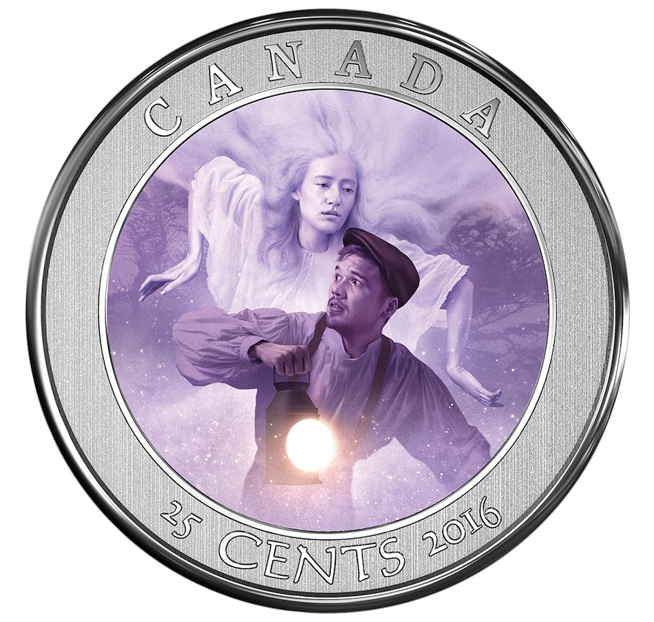 Image 705838.jpg , Product 705-838 / Price $18.88 , Haunted Canada - Bell Island 2016 25-Cent Coin and Stamp from Royal Canadian Mint on TSC.ca's Coins department
